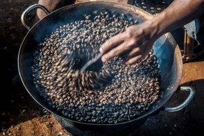 Kaffezubereitug an der Kaffefarm