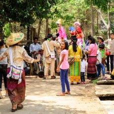 Dorfzeremonie in Pai